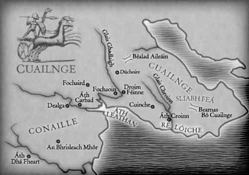 Táin Bó Cuailnge, mapa